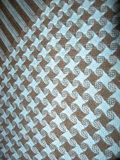 Handwoven 8 shaft pinwheel pattern from A Weaver's Book of -Shaft Patterns