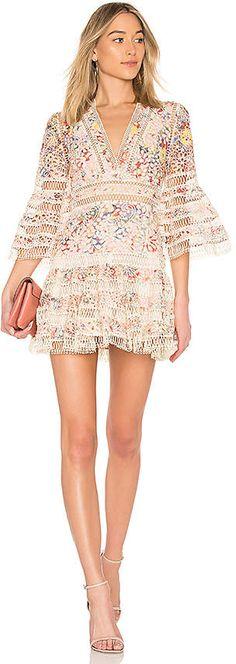 0d1823f7b99cd0 Zimmermann Lovelorn Floral Flutter Dress #floralprint #vneck #flirty  #summer #spring #