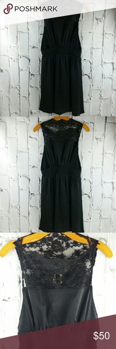 "💞SALE💞 Free People Black Lacey Dress Gorgeous Free People Black Lacey Dress Lace on top and waist gathers in back with openings on sides. Very Unique and Gorgeous 34"" from top of shoulder to bottom 28"" waist 100% Polyester. Great Condition Free People Dresses"
