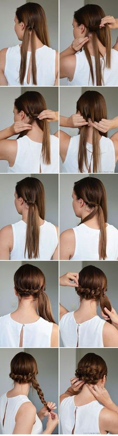 So-Pretty Hairstyles for Long Hair updos for girls with long hair -- easy hairstyle tutorials for prom/wedding/etc!updos for girls with long hair -- easy hairstyle tutorials for prom/wedding/etc! Step By Step Hairstyles, Easy Hairstyles For Long Hair, Pretty Hairstyles, Girl Hairstyles, Wedding Hairstyles, Latest Hairstyles, Hairstyles 2018, Black Hairstyles, Overnight Hairstyles