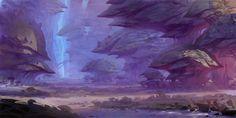 Atmospheric perspective purple...