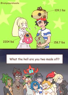 They may not be the strongest people in Pokemon, but they sure have muscle.