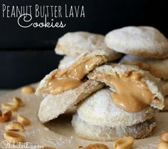 ~Peanut Butter Lava Cookies! | Oh Bite It