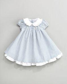 Shop for Ralph Lauren Childrenswear Seersucker Dress, Months at ShopStyle. Little Dresses, Little Girl Dresses, Girls Dresses, Toddler Dress, Toddler Girl, Baby Girls, Little Girl Fashion, Kids Fashion, Kid Styles