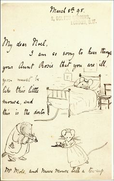 The first page of a letter from Beatrix Potter to Noel Moore, 1893.