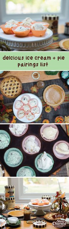 Best Pie and Ice Cream Pairings Pie Dessert, Dessert Recipes, Easy Desserts, Delicious Desserts, Caramel Delights, Best Pie, Thanksgiving Pies, Ice Cream Pies, Best Ice Cream