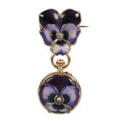 A Swiss diamond-set gold and pictorial enamel pendant watch, B. Altenburger, retailed by Fabergé, circa 1895