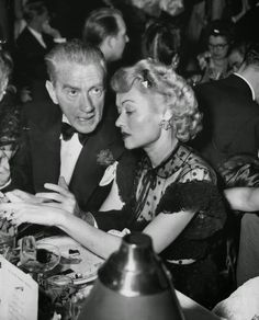 """Clifton Webb and Constance Bennett. Clifton Webb was a silent film actor and a broadway actor but became truly famous after staring in the movie """"Laura"""" with Gene Tierney, Dana Andrews and Vincent Price. Hollywood Party, Hollywood Fashion, Golden Age Of Hollywood, Vintage Hollywood, Hollywood Glamour, Hollywood Stars, Classic Hollywood, Constance Bennett, Joan Bennett"""