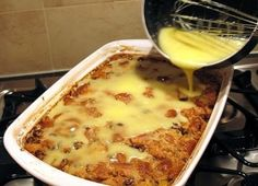 best cooking recipes 2015: Grandma's Old-Fashioned Bread Pudding with Vanilla Sauce