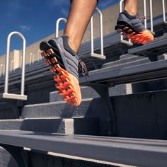 Take your run to the next level with this week's #kickoftheweek: the new #adidasRunning #Springblade. 16 individually tuned blades store and release explosive energy in every step. The track won't know what hit it.