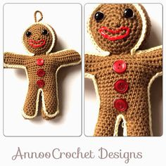 Gingerbread Man Christmas Ornament Free Pattern