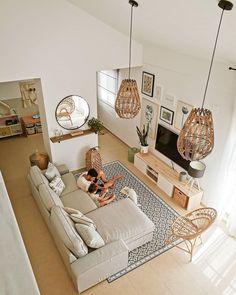 Home Living Room, Apartment Living, Living Room Decor, Living Spaces, Bedroom Decor, Small Living, Home Room Design, Living Room Designs, House Design