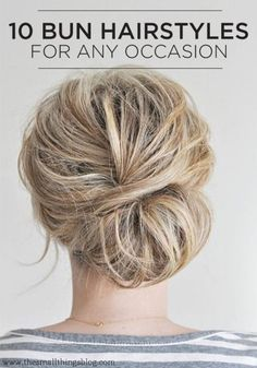 top knots and sock buns