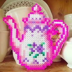 Teapot hama perler beads by tamatek