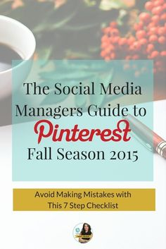 With the fall season around the corner it's time to get serious with autumn related topics. For example there are more than 176 million Halloween pins and 45 million Halloween  boards on Pinterest. Here's your 7 step Pinterest fall checklist to help you start the new season with a bang! Click here to learn more from Pinterest expert Anna Bennett http://www.whiteglovesocialmedia.com/how-to-manage-your-pinterest-business-account-fall-2015-avoid-making-mistakes-with-this-7-step-checklist/