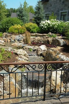 Waterfall created by The Pond Clinic in Ottawa, ON. #WaterfallWednesday