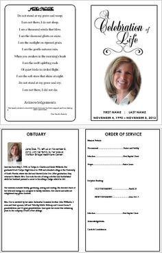31+ Funeral Program Templates - Free Word, PDF, PSD Documents ...