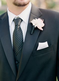#boutonniere Photography by melissaschollaertphotography.com  Read more - http://www.stylemepretty.com/2013/08/21/paradise-valley-arizona-wedding-from-melissa-schollaert-photography-victoria-canada-weddings-events/