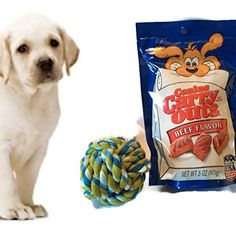 New Dog Welcome bag Dog treat Beef Favor and Durable Knot Rope Dog Toy Ball Bundle Great Value @ Joommy Chew.
