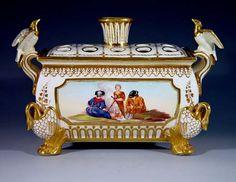 Derby Porcelain Bough Pot and Cover C 1820 Antique China, Rare Antique, Fine Porcelain, Porcelain Ceramics, Lion Paw, Royal Crown Derby, China Patterns, Art Decor, Candle Holders