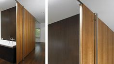 Purchasing interior barn doors is easy and there are many available options to choose from. Consider the different factors in choosing the right barn door from Dream House Movie, Making Barn Doors, Barn Door Hardware, Modern Interior Design, Sliding Doors, Glass Door, Modern Barn, Ladders, Interior Doors