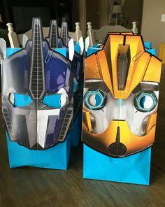Transformer birthday goodie bags. Hptdesign