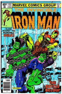 Iron Man #132 (March 1980), cover art by Bob Layton