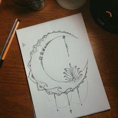 Resultado de imagem para desenho lua tumblr
