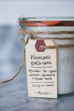 Handcrafted Woodland Bath Salts