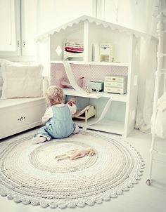 Habitaciones infantiles decoradas en blanco y rosa - Mamidecora.com
