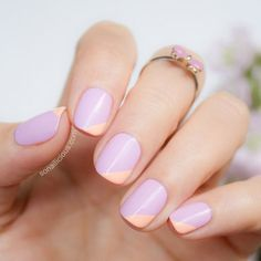 Give yourself a pastel color blocked manicure for Easter with this spring nail art tutorial.