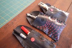 Learn how to turn a holey tube into a wholly new pouch for your phone, keys, or art supplies.
