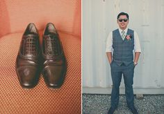 dark grey grooms suit | photo by Rock the Image | 100 Layer Cake