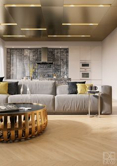 Modern apartment by DEnew on Behance