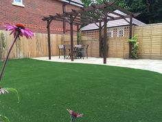 """""""Love this shot! Elise installed on this garden makeover. Elise has to be my favourite! Artificial Grass Installation, Garden Makeover, Pergola, Outdoor Structures, Landscape, Scenery, Outdoor Pergola, Corner Landscaping"""