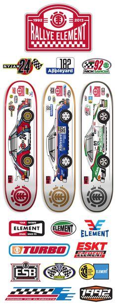 Element Skateboards by Dan Janssen, via Behance Element Skateboard Decks, Skateboard Design, Skateboard Art, Skate Decks, Skate Surf, Longboard Decks, Old School Skateboards, Skate And Destroy, Drift Trike