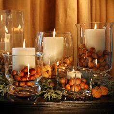 flowerless wedding :  wedding Nuts Centerpiece Fb