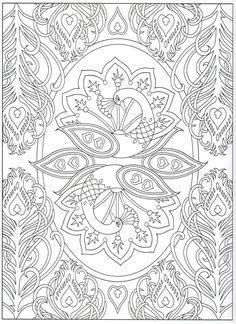 Peacock Mandala Coloring Pages Creative Haven S Peacock Designs Peacock Coloring Pages, Mandala Coloring Pages, Animal Coloring Pages, Coloring Pages To Print, Coloring Book Pages, Printable Coloring Pages, Coloring Sheets, Mandala Art, Mandala Pattern