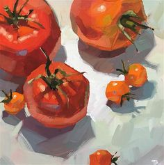 Value Painting, Fruit Painting, Gouache Painting, Great Paintings, Oil Paintings, Abstract Line Art, Fine Art Gallery, Food Coloring, House Painting