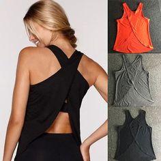 Women-039-s-Gym-Tank-Sports-Fitness-Shirt-Yoga-Top-Workout-Sleeveless-Runnging-Vest