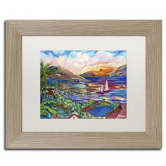 Sunset by Manor Shadian Framed Painting Print