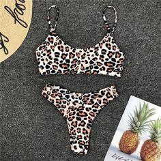Animal Print Bikini Set, Leopard Print Bikini, Bandeau Bikini Set, Bikini Swimwear, Thong Bikini, Monokini Swimsuits, Sexy Bikini, Bikini Bottoms, Tankini