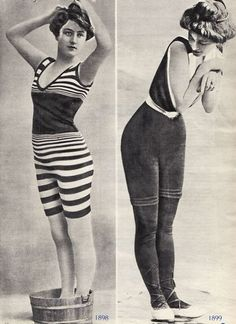 1898-1899 bathing suits.