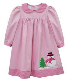 Love this Pink Snowman Appliqué Float Dress - Infant & Toddler on #zulily! #zulilyfinds