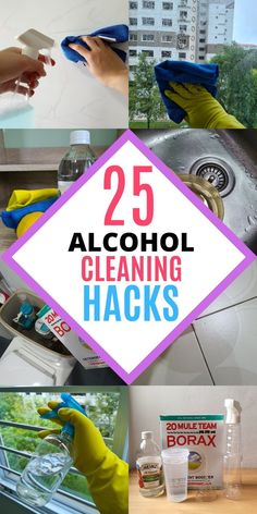 Rubbing alcohol is an awesome cleaning product for every home! It has plenty of household uses when it comes to cleaning and disinfecting. It can be used to disinfect your toilet seat, door knob and remove sticky residues in the bathroom. Here are 25 amazing ways to use rubbing alcohol at home, read the blog to learn all the cleaning tips and tricks! #homewhis #cleaninghacks #cleaningtips #cleaningideas #rubbingalcohol #rubbingalcoholuses Bathroom Cleaning Hacks, Cleaning Spray, Deep Cleaning, Kitchen Cleaning, Kitchen Hacks, Cleaning Recipes, Diy Cleaning Products, Cleaning Tips, Cleaning Solutions