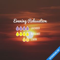 Evening Relaxation — Essential Oil Diffuser Blend