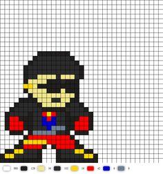 Superboy DC Perler Bead Pattern