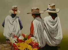 The Flower Pickers International Artist, Painting, Curtains, Flower, Insulated Curtains, Blinds, Painting Art, Paintings, Paint