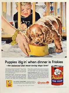 Retro Advertising, Vintage Advertisements, Vintage Ads, Weird Vintage, Retro Ads, Vintage Stuff, Baby Playpen, Canned Dog Food, Retro Kitchen Decor