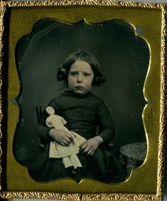 Daguerreotype Girl with Doll 6th Plate Union Dag Case Excellent Condition | eBay